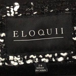 Eloquii Jackets & Coats - Eloquii Tweed Frayed Hem Jacket